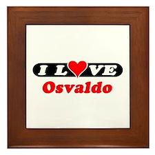 I Love Osvaldo Framed Tile