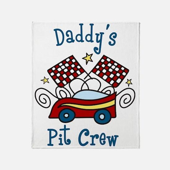 Daddys Pit Crew Throw Blanket