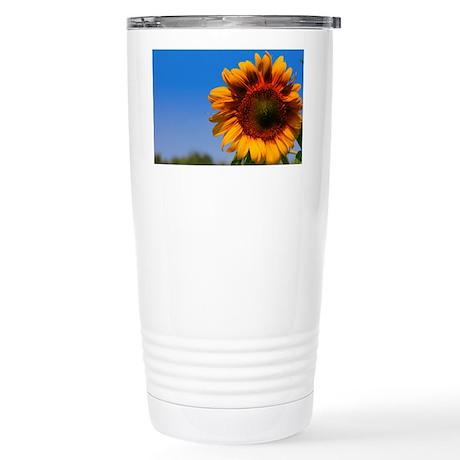 Artists Sunflower View Stainless Steel Travel Mug