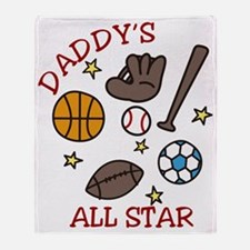 Daddys All Star Throw Blanket