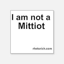 "Mittiot Square Sticker 3"" x 3"""