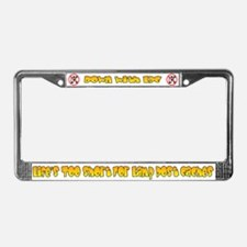 No Lamp Post Cache! License Plate Frame