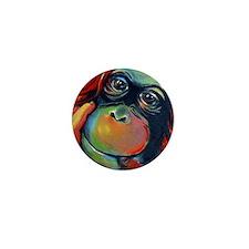 Orangutan Sam Mini Button