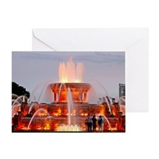 Buckingham Fountain Greeting Card