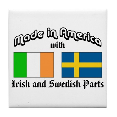 Irish-Swedish Tile Coaster
