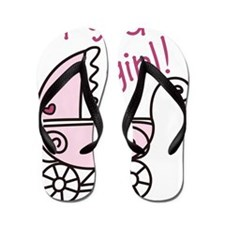 Its A Girl Flip Flops