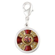 Order of Saint Anna Cross Silver Round Charm