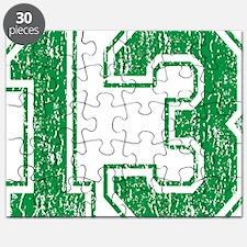 Retro 13 Green Puzzle