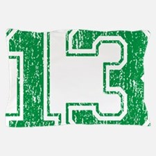 Retro 13 Green Pillow Case