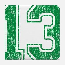 Retro 13 Green Tile Coaster