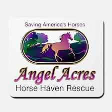 Angel Acres Horse Haven Rescue Mousepad