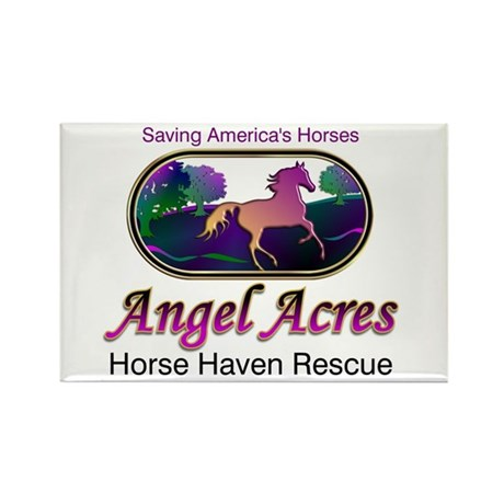 Angel Acres Horse Haven Rescue Rect. Magnet (10