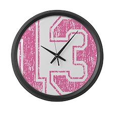 Retro 13 Pink Large Wall Clock