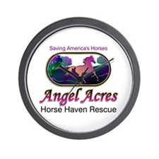 Angel Acres Horse Haven Rescue Wall Clock