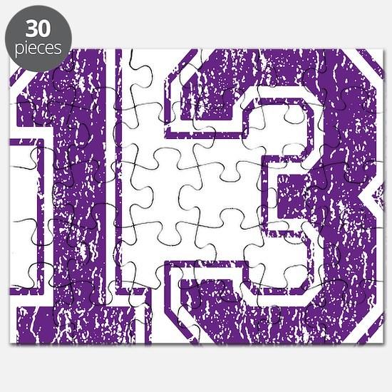 Retro 13 Purple Puzzle