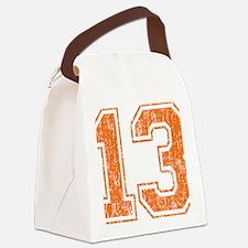Retro 13 Orange Canvas Lunch Bag