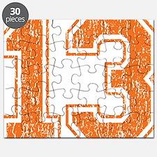 Retro 13 Orange Puzzle