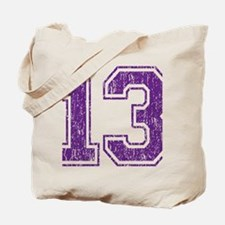 Retro 13 Purple Tote Bag