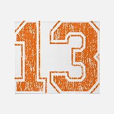 Retro 13 Orange Throw Blanket
