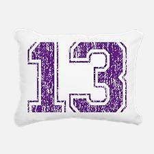 Retro 13 Purple Rectangular Canvas Pillow