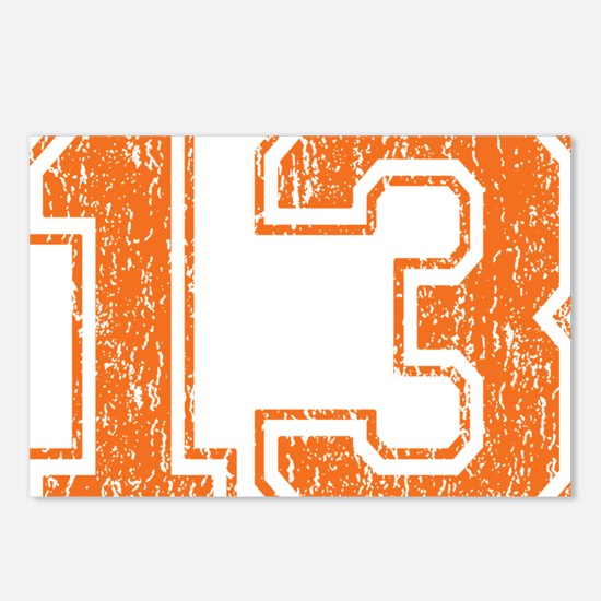 Retro 13 Orange Postcards (Package of 8)