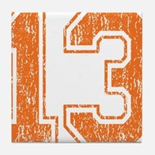 Retro 13 Orange Tile Coaster