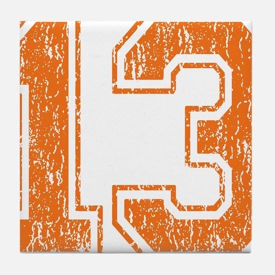Retro 13 Orange Tile Coaster
