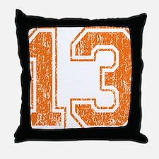 Retro 13 Orange Throw Pillow