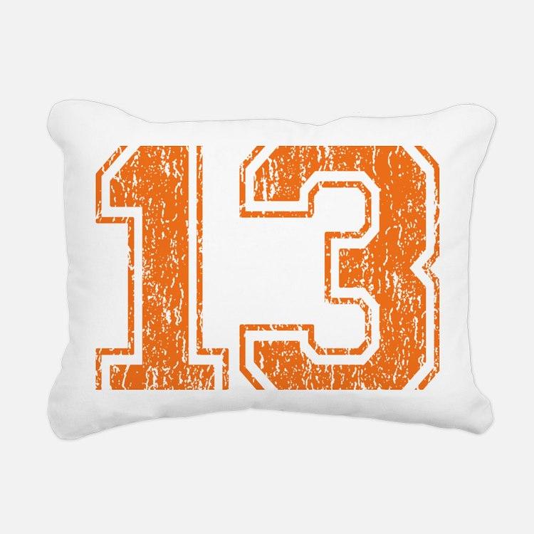 Retro 13 Orange Rectangular Canvas Pillow