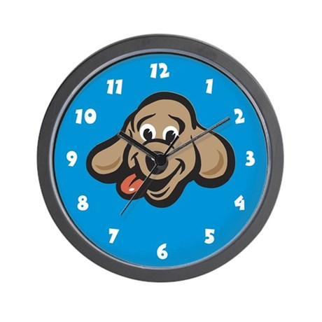 Dog Wall Clock: Happy Dog