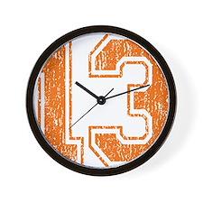 Retro 13 Orange Wall Clock