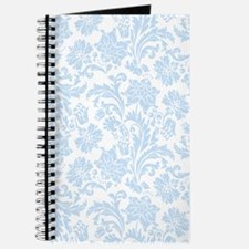 Sky Blue and White Damask Journal