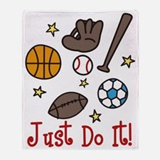 Just Do It! Throw Blanket