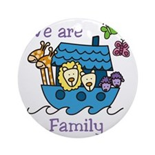 We Are Family Round Ornament