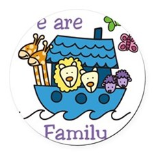We Are Family Round Car Magnet