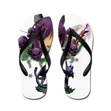 Chibi Female Werefox Flip Flops