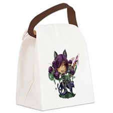 Chibi Female Werefox Canvas Lunch Bag