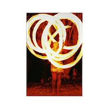 Tehani Fire Photo One Rectangle Magnet