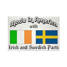 Irish-Swedish Rectangle Magnet