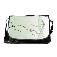 DNA helix and genetic mapping Messenger Bag