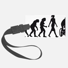 evolution female bicycle racer Luggage Tag