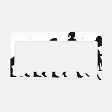 evolution female bicycle race License Plate Holder
