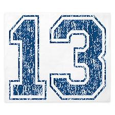 Retro 13 Blue King Duvet