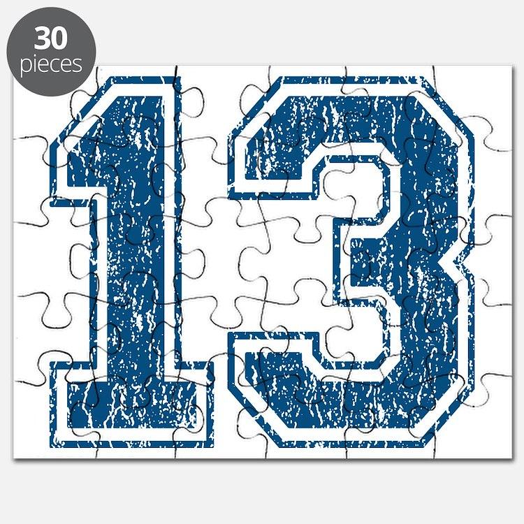Retro 13 Blue Puzzle