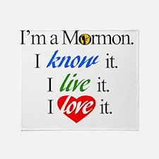 I'm a Mormon Throw Blanket