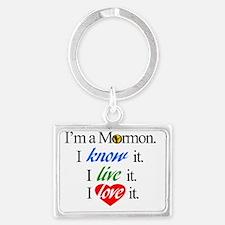 I'm a Mormon Landscape Keychain