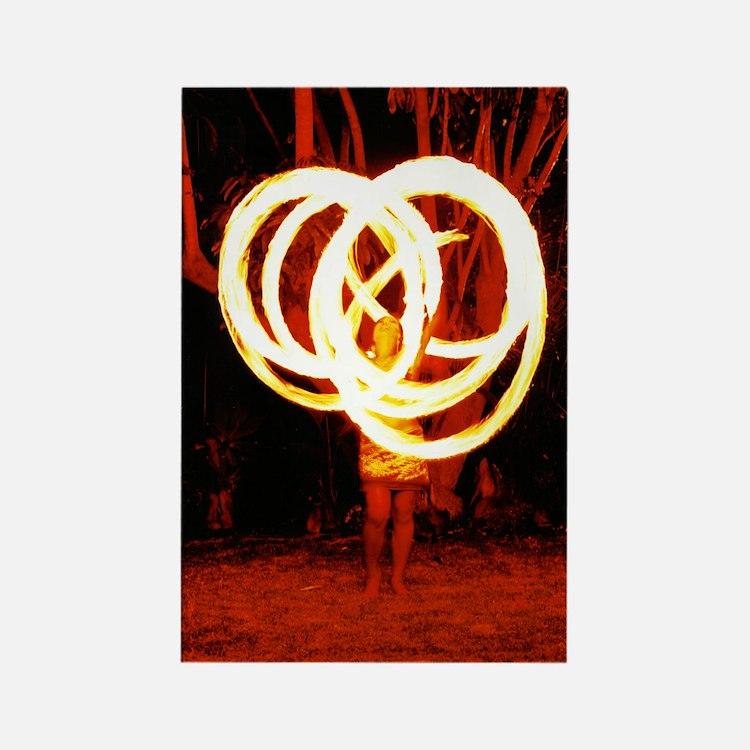 Tehani Fire Poi, Photo One Rectangle Magnet