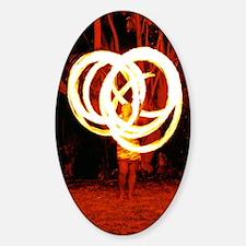 Tehani Fire Poi, Photo One Sticker (Oval)