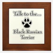 Russian Talk Framed Tile