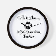 Russian Talk Wall Clock